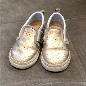 Rose gold slip on Vans size 6 toddler